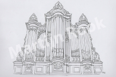 Orgel Dorpskerk Illustratie