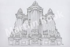 Orgel Dorpskerk Illustratie