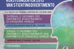 Stichting Divertimento Kerst Poster 2015