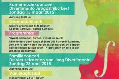 Stichting Divertimento Voorjaarsconcerten Poster 2015