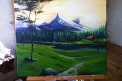 Landschap Acrylverf